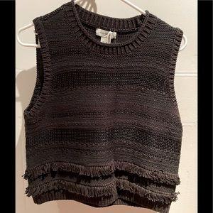 NWT Club Monaco black knit top